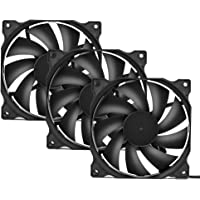 uphere 3-Pack Long Life Computer Case Fan 120mm Cooling Case Fan Computer Cases Cooling