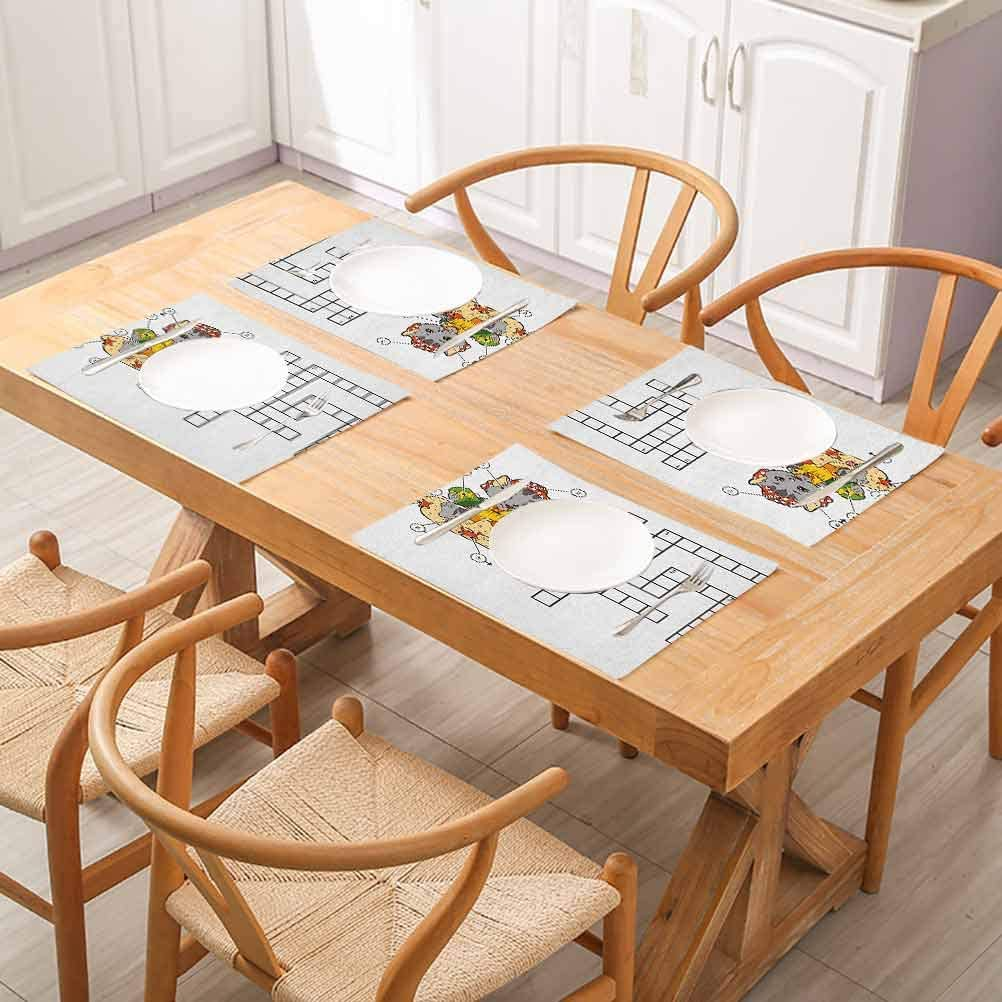 Amazon Com Floragrantnan Dining Table Mat Cup Coaster Restaurant Decoration Word Search Puzzle Crossword Game For Children C For Everyday Indoor Outdoor Dining Special Occasions Or Dinner Parties Set Of 6 Home Kitchen
