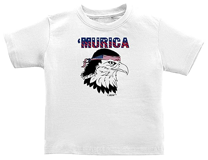 7e680040 Patriotic Baby Gift Murica Bald Eagle Cute USA Patriotic Infant T-Shirt 6  Months White