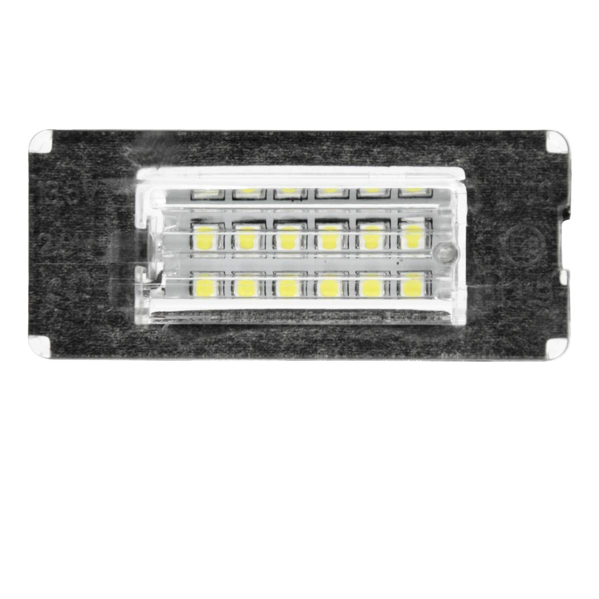 Kennzeichen Beleuchtung Nummernschilder Licht mit E-Pr/üfzeichen ECD Germany LED Kennzeichenbeleuchtung 6000K Xenon Wei/ß