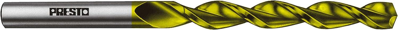 parabolische Tieflochspirale Hi-Tech Industrie Spiralbohrer PRESTO HSSCo8-TiN DIN 338 SM200 rechtsschneidend Toleranz h8: /Ø 9,50 mm x Gesamtl/änge 125 mm x Arbeitsl/änge 81 mm