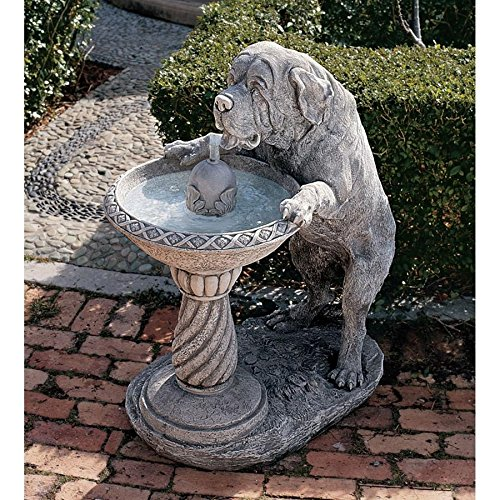 (Water Fountain - 3 Foot Tall Quenching a Big Thirst Garden Decor Dog Fountain - Outdoor Water Feature)