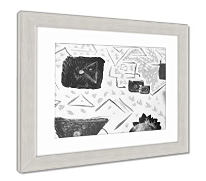 Amazon.com: Ashley Framed Prints Reproduction of Abstract Art Oil ...