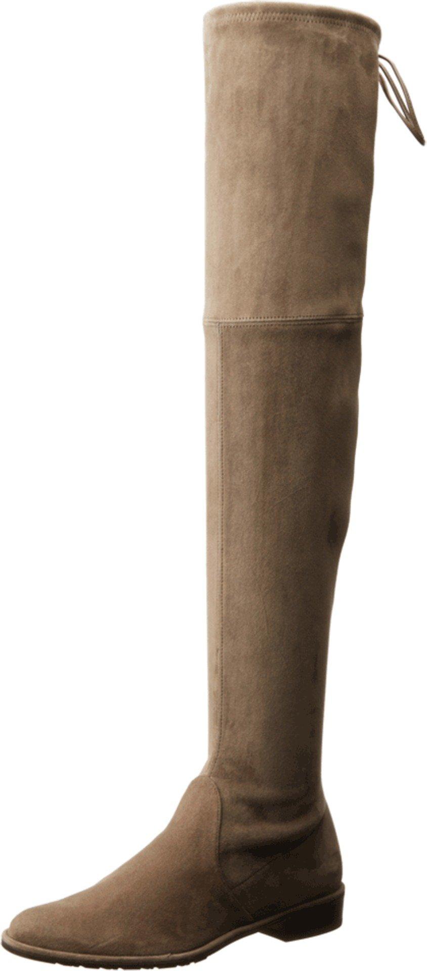 Stuart Weitzman Women's Lowland Over-The-Knee Boot,Praline Suede,9 M US