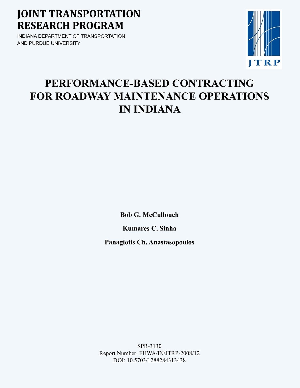 Read Online Performance-Based Contracting for Roadway Maintenance Operations in Indiana pdf
