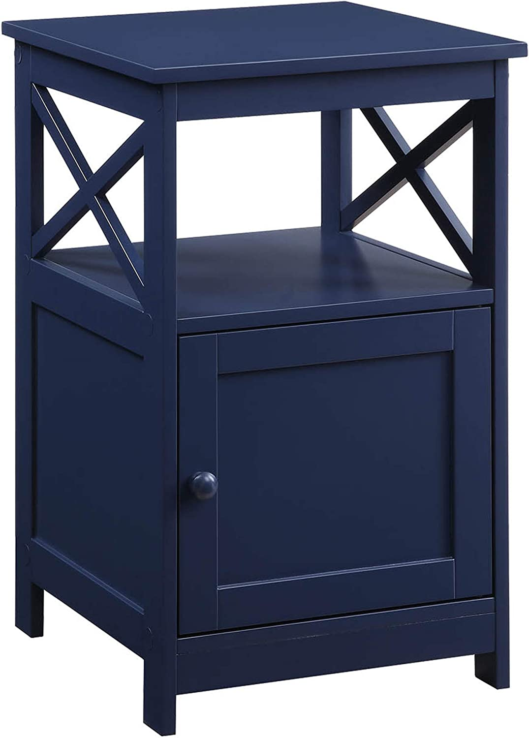 Convenience Concepts Oxford End Table with Cabinet, Cobalt Blue