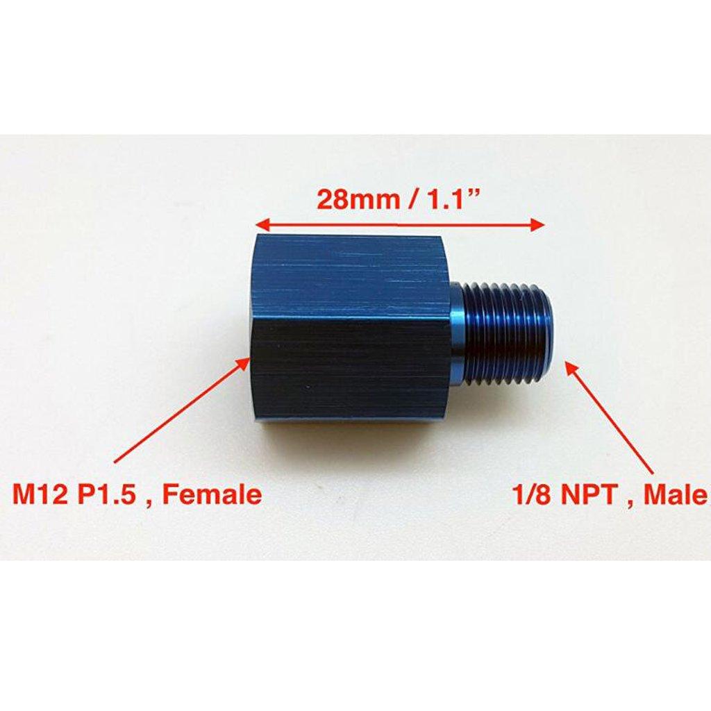 Branchement Rapide perfk Connecteur De Manom/ètre De Pression De Carburant De Rechange M12x1,5 /à 1//8 NPT