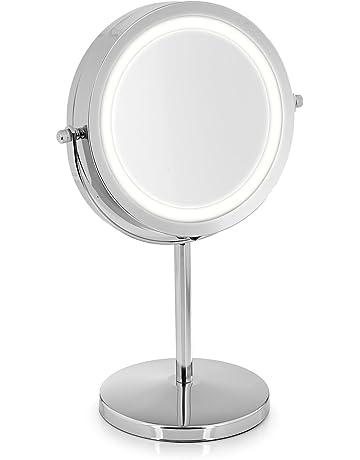 TROP Miroir cosmétique premium avec illumination LED et grossissement 5x - Miroir de maquillage / Miroir