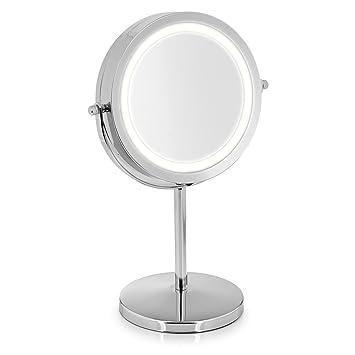 Gut gemocht VARA Kosmetik-Spiegel mit LED Beleuchtung und 5-fach Vergrößerung NZ42