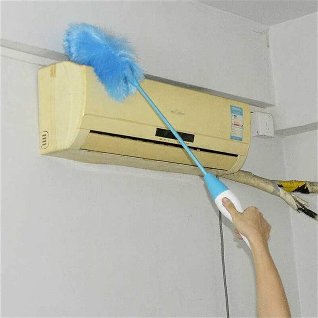 batteria /Spolverino elettrico regolabile a 360 gradi per pulizia Spazzola motorizzata a parete per finestre Spolverino Spolverino manuale per la pulizia di ragnatele su ventole a soffitto alto