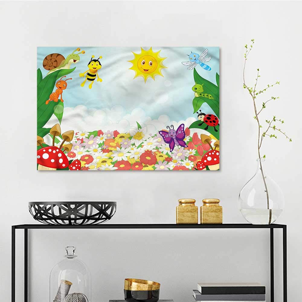 Amazon Com Sunset Glow Wall Painting Prints Kids Bee Butterfly Ant