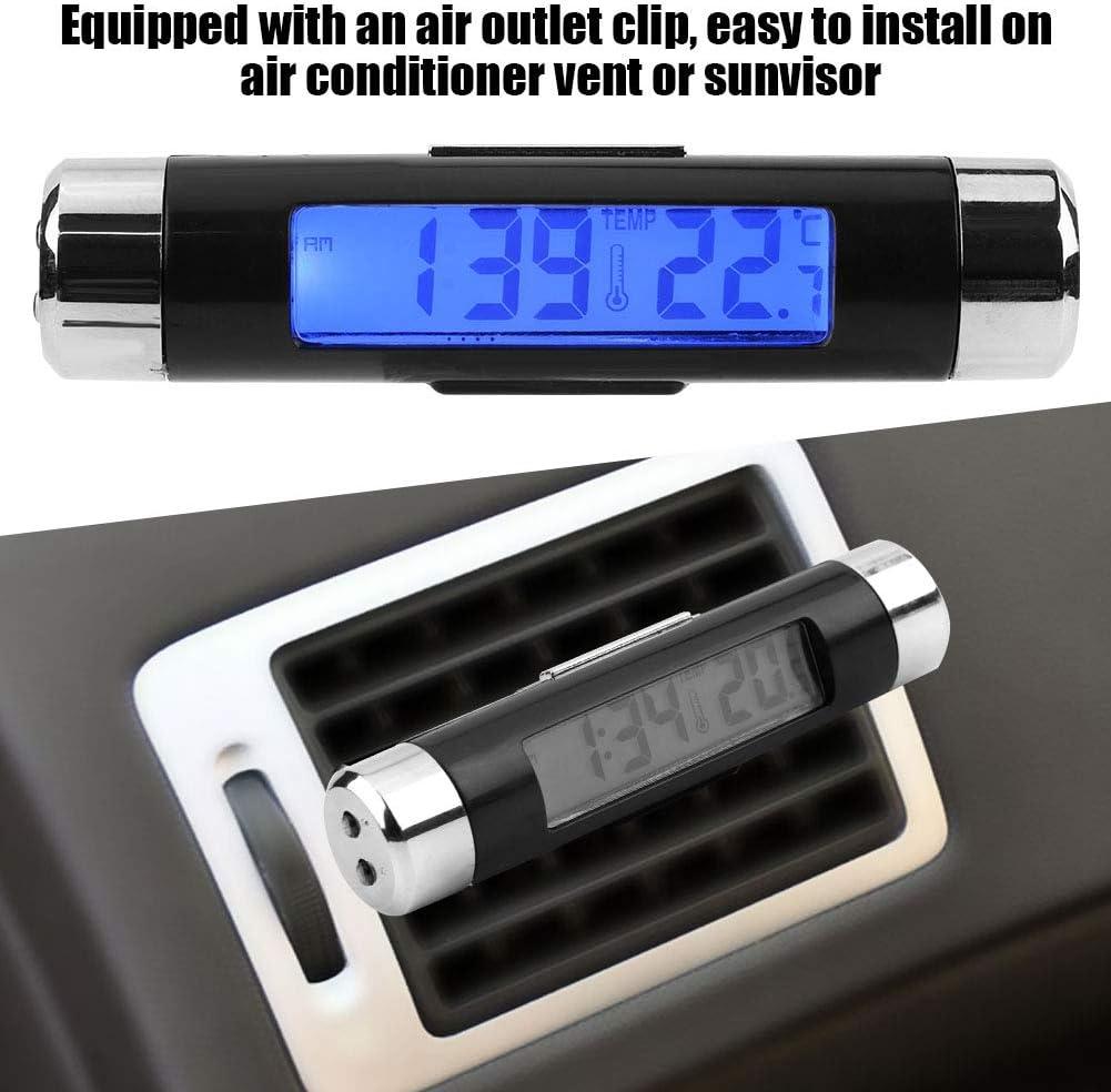 Duokon Multi-functional Car Auto Electronic Clock Thermometer LED Backlight Digital Display