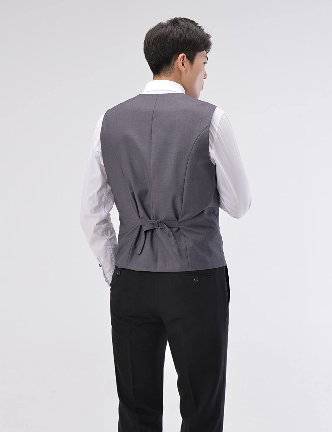 TheLees SVE Mens slim fit chain point 3 button vest