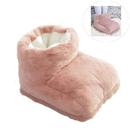 Calzado de calefacción eléctrica, Soft Velvet High Help Warm ...
