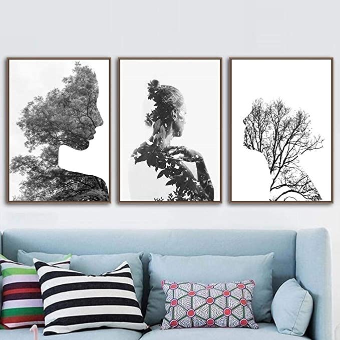 Nordic Poster Black And White Prints Landscape Posters And Print Forest Wall Art