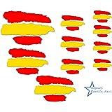 BC Corona ADH06593 2 Pegatinas Bandera ESPAÑA Pincel Vinilo 10 X 4,5 CM, Set de 2: Amazon.es: Coche y moto