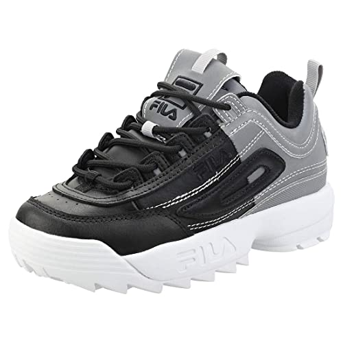 0e9c1aff738 Fila Disruptor Ii Phaseshift Split Womens Platform Trainers in Black Silver  White - 3 UK: Amazon.co.uk: Shoes & Bags