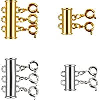 Heat Jewelry Findings Clasp Supplies Metal brass Screw Clasps Accessories For Luxury Hanging Chains Pendant 25x14mm,1pc