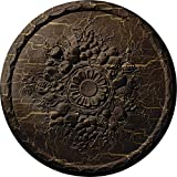 Ekena Millwork CM22ATRBC Anthony Harvest Ceiling Medallion, Root Beer Crackle