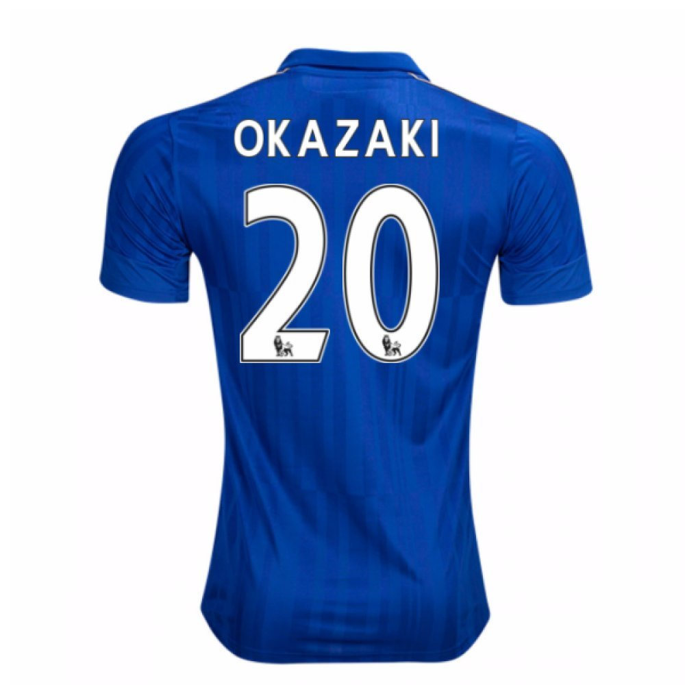 2016-17 Leicester City Home Football Soccer T-Shirt Trikot (Shinji Okazaki 20) - Kids