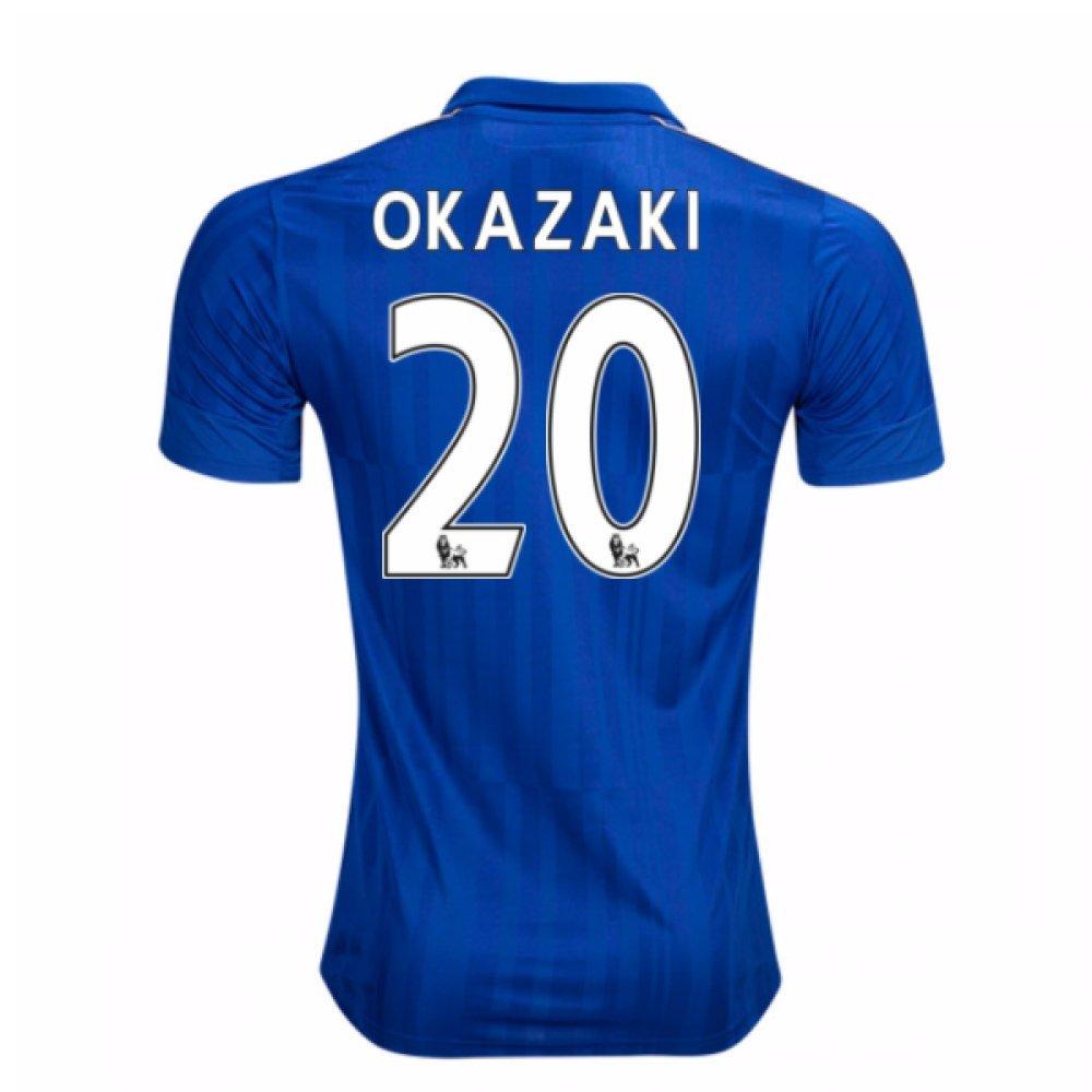 2016-17 Leicester City Home Football Soccer T-Shirt Trikot (Shinji Okazaki 20) - Kids