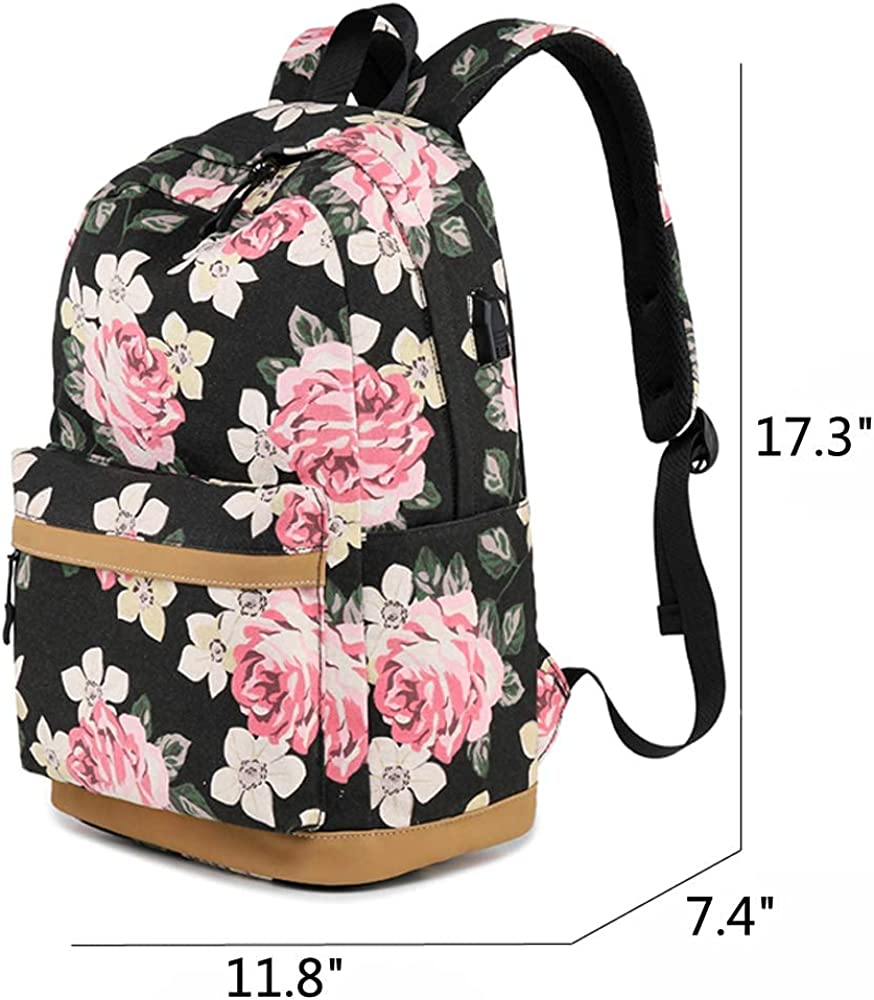 KXT White Lady Laptop Backpack,Stylish College School Backpack,Casual Daypack Backpack for Men//Women//Girls//boy//Travel
