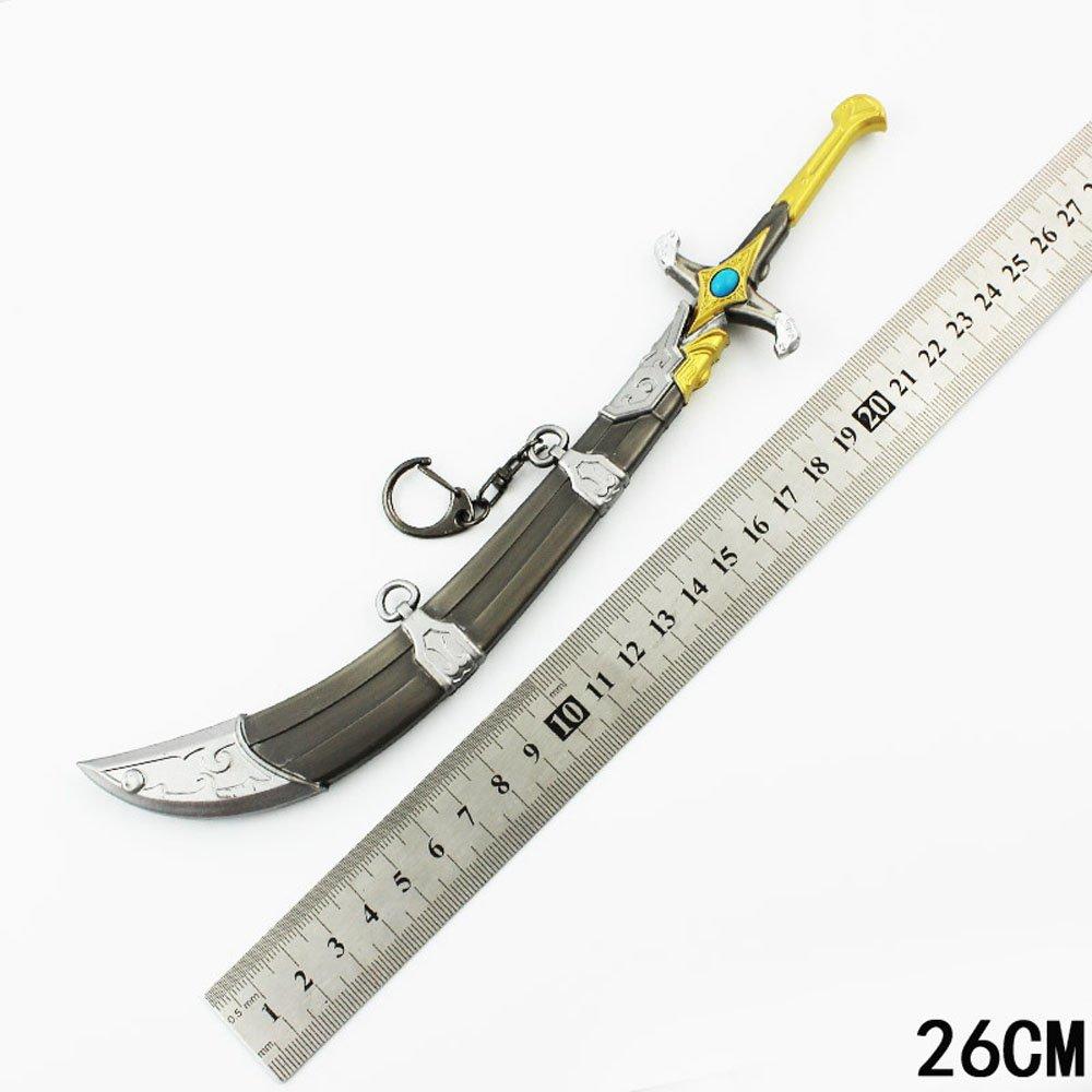 26 cm OW Genji beduin Cosplay Aleación armas Modelo Llavero ...