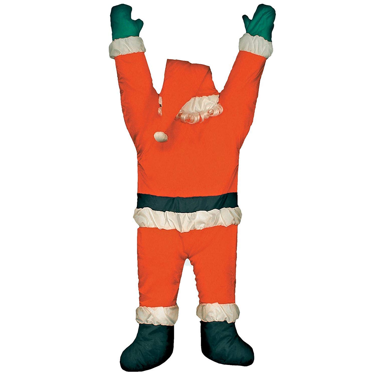 LIFE SZ Christmas Hanging SANTA suit from on the gutter roof Outdoor Decoration