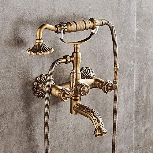 DXX-HR 繊細な北欧レトロ銅で壁シャワーセットセラミックバルブコアホームホテルシンプル浴室バスタブ蛇口