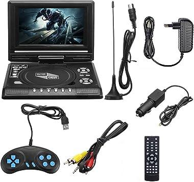 Pantalla portátil, un 7,8 Pulgadas portátil de DVD EVD DVD con TV/FM/USB/función de Juego, con Gamepad y Control Remoto: Amazon.es: Deportes y aire libre