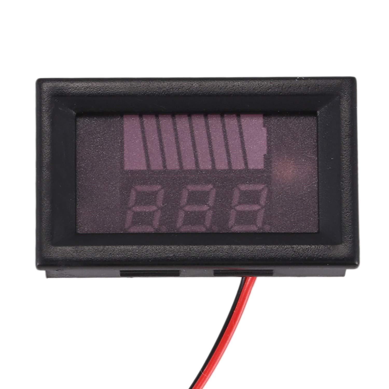 SODIAL 12V-60V Compteur De Batterie De Voiture /électrique Affichage DC Voltm/ètre De Voiture De Batterie Au Lithium Num/érique