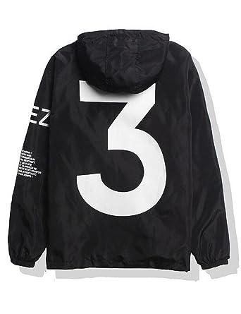 3cfcdca5ab87 Bifast Men s Hooded Front-Zip Rainproof Windproof Climbing Jacket Raincoat  Black S