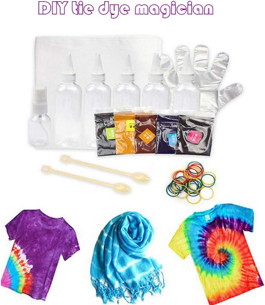 Kit de tinte Mify One Step Tie Dye no tóxico Tie Dye camisa, tinte de tela en spray para bricolaje, ropa, manualidades para niños