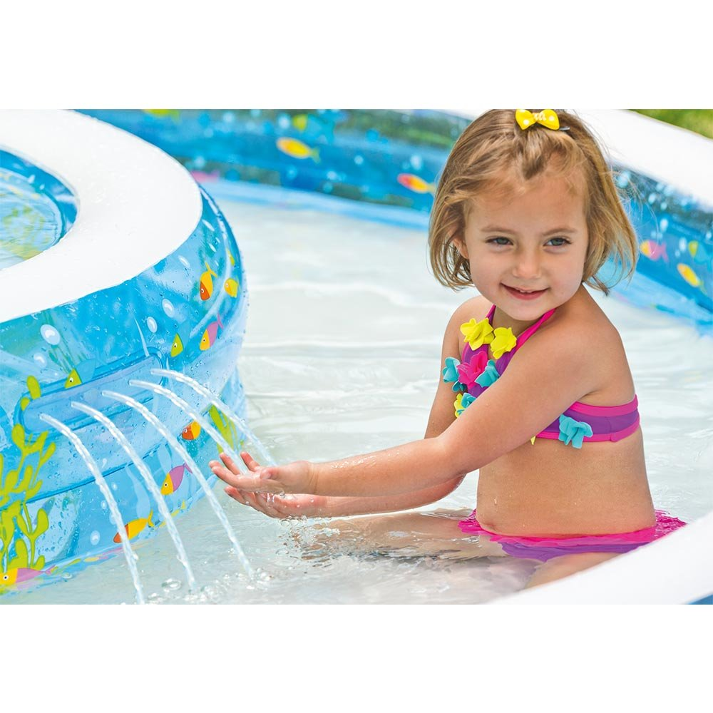 Kids-Inflatable-Pool Small Kiddie Blow Up Above Ground Swimming Pool Is Great For Kids & Children To Have Outdoor Water Fun W/Slide, Floats, Toys. This Wishing Well Swim Pool with Sprayer. by Kids-Inflatable-Pool (Image #2)