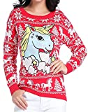 Product review for V28 Ugly Christmas Sweater, Women Girl Junior Unicorn Clothes Jumper Red Sweater