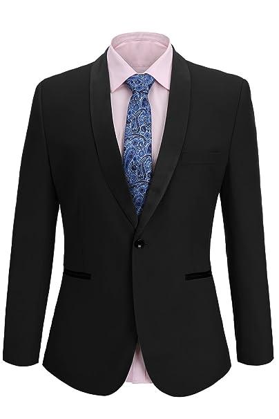 Amazon.com: FISOUL - Traje de hombre ajustado, chaqueta ...