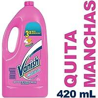 Vanish Quitamanchas Líquido, color Rosa, 420 ml, Paquete de 12