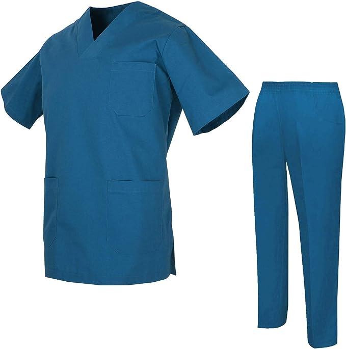 Uniformi Unisex Set Camice Ref.8178 MISEMIYA Uniforme Medica con Maglia e Pantaloni Uniformi Mediche Camice Uniformi sanitarie