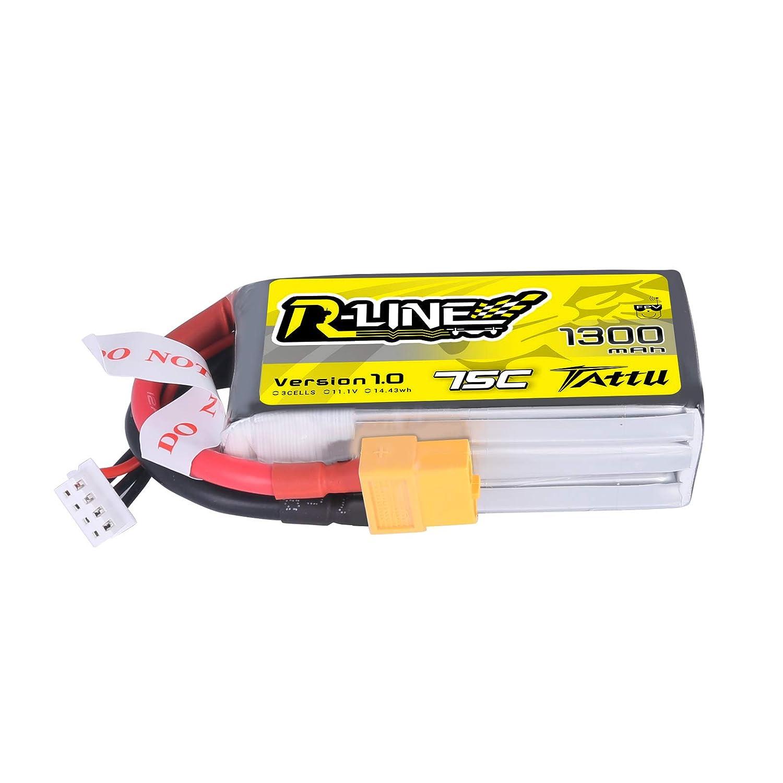Bateria Lipo Tattu R-line 11.1v 1300mah 75c 3s Xt60 Plug