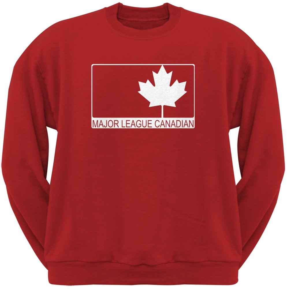 Major League Canadian Red Adult Crew Neck Sweatshirt