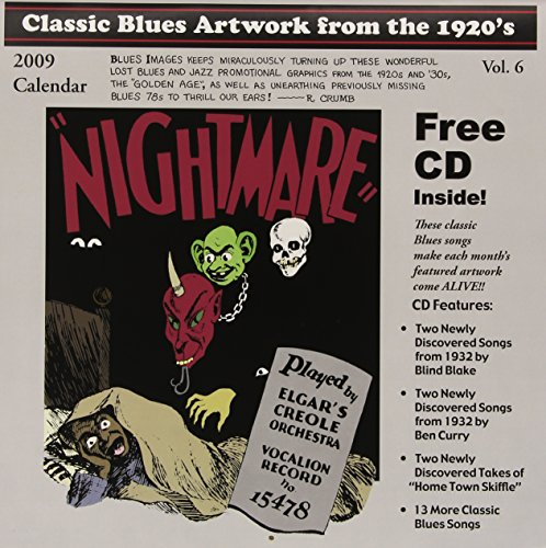 Classic Blues Artwork from the 1920's: 2009 Calendar (+CD) (Classic Blues Artwork From The 1920s Calendar)