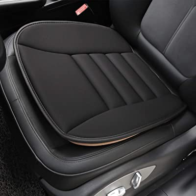 Aukee Car Seat Cushion Office Chair Mat Memory Foam Home Use Pad Black 1PC: Automotive