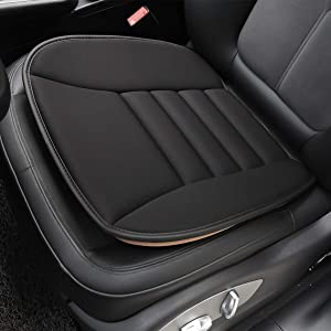 Aukee Car Seat Cushion, Office Chair Wheelchair Mat Memory Foam Pad Back Sciatica Pain Relief - Black (1PC)