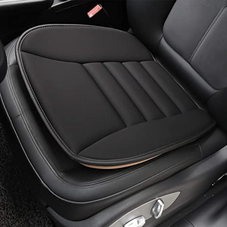 12792975d196c Aukee Car Seat Cushion, Office Chair Wheelchair Mat Memory Foam Pad Back  Sciatica Pain Relief - Black (1PC)