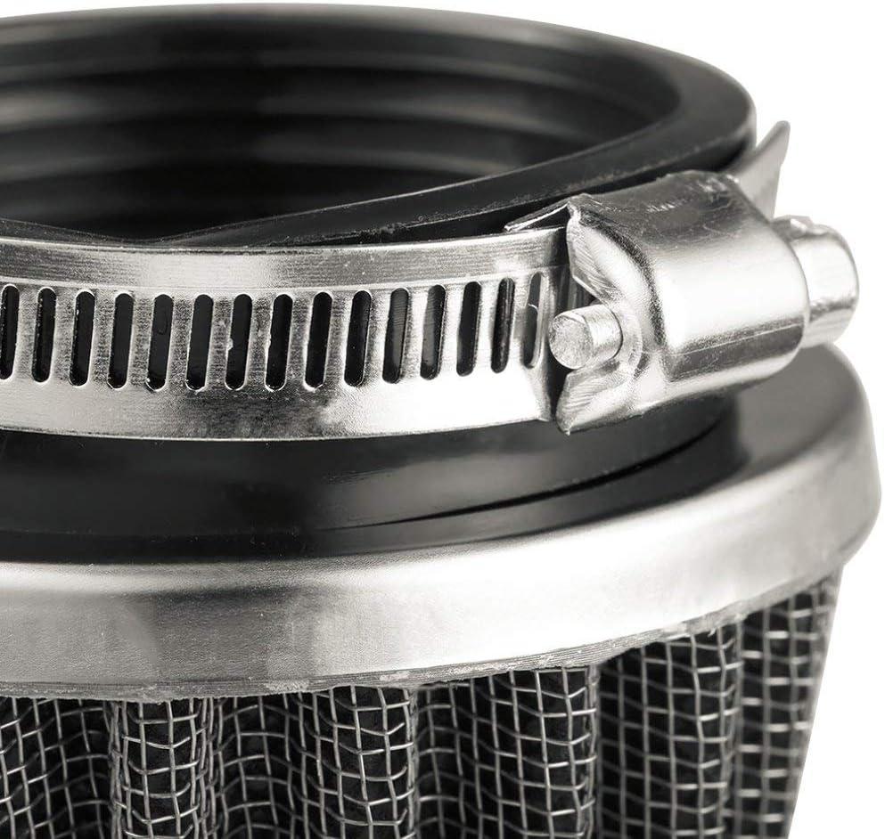 50mm Sebastianee Filtre /à air universel pour moto Noir