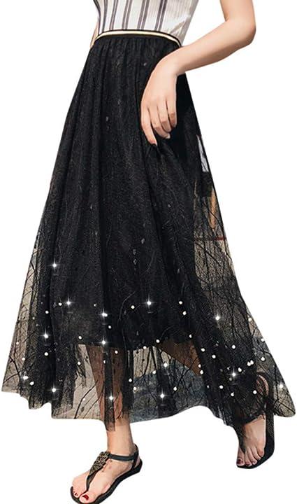 Faldas Largas Mujer Fiesta Elegante Faldas Tul Mujer con ...