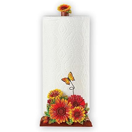 unique sunflower kitchen decor single roll paper towel holder 14 - Sunflower Kitchen Decor