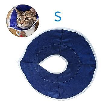 Decdeal Collar de Recuperación Suave para Gatos Cuello cómodo y Ajustable para Cirugía Estética Protege Gatos Mascotas Cuello: Amazon.es: Hogar