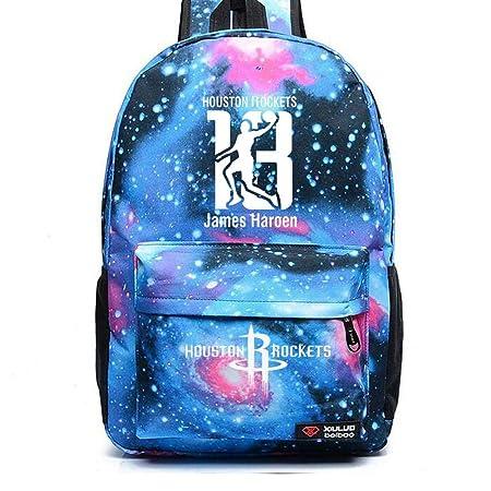 YHJ backpack Mochila Escolar Baloncesto NBA Houston Rockets ...