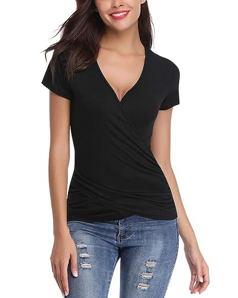 Amazon.com: Hawiton - Camiseta de manga corta con cuello en ...